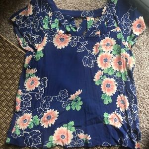 Anthropologie cut out shirt.